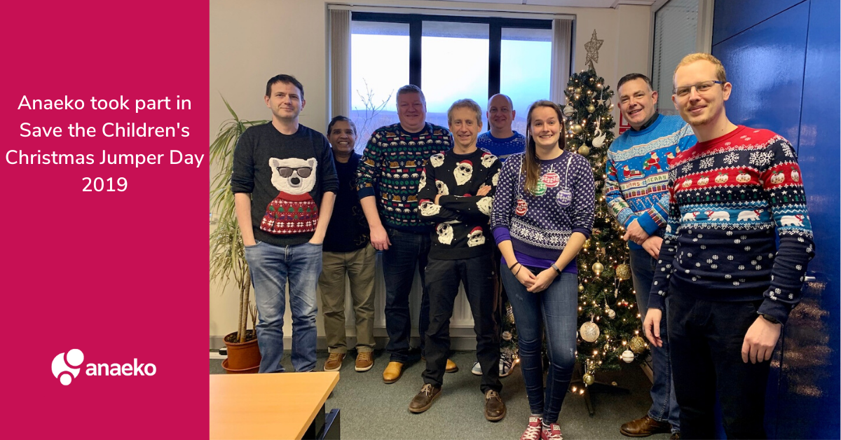 Anaeko took part in Save the Childrens Christmas Jumper Day 2019