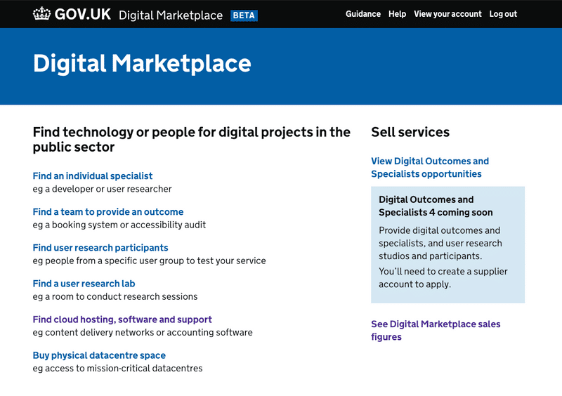Government Analytics as a Service - Digital Marketplace